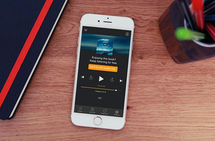 Audible ljudbokspelare app