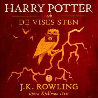 Harry Potter Och De Vises Sten ljudboksomslag